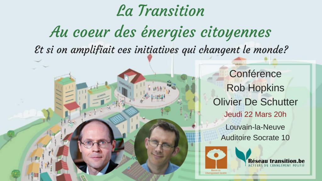 Conférence de Rob Hopkins et Olivier De Schutter