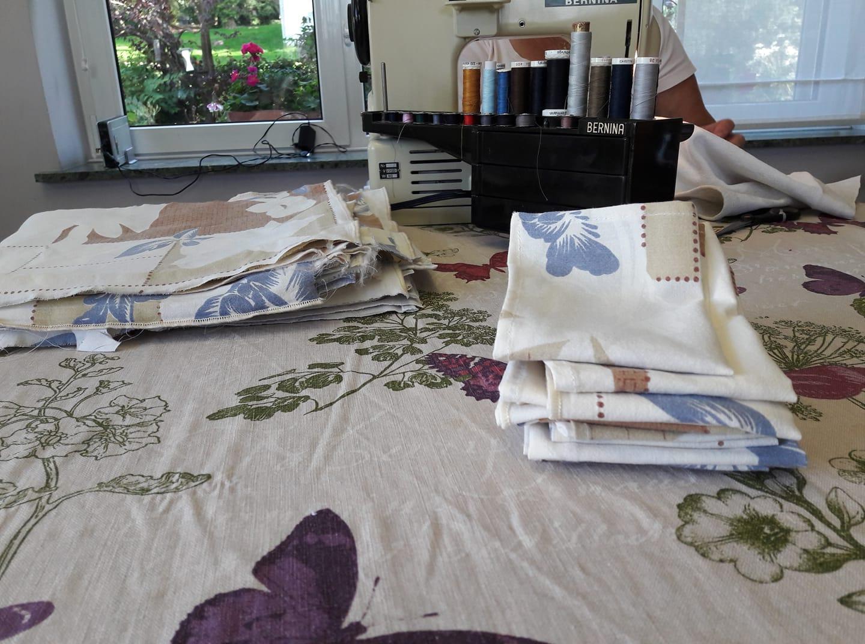 Fabrication des serviettes en tissu